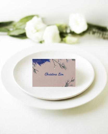 Rustic Mason Jar Flowers - Place Cards