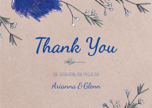 Rustic Mason Jar Flowers - Thank You Cards