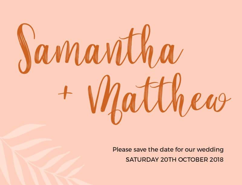 Sunsets over the Beaches - Save The Date