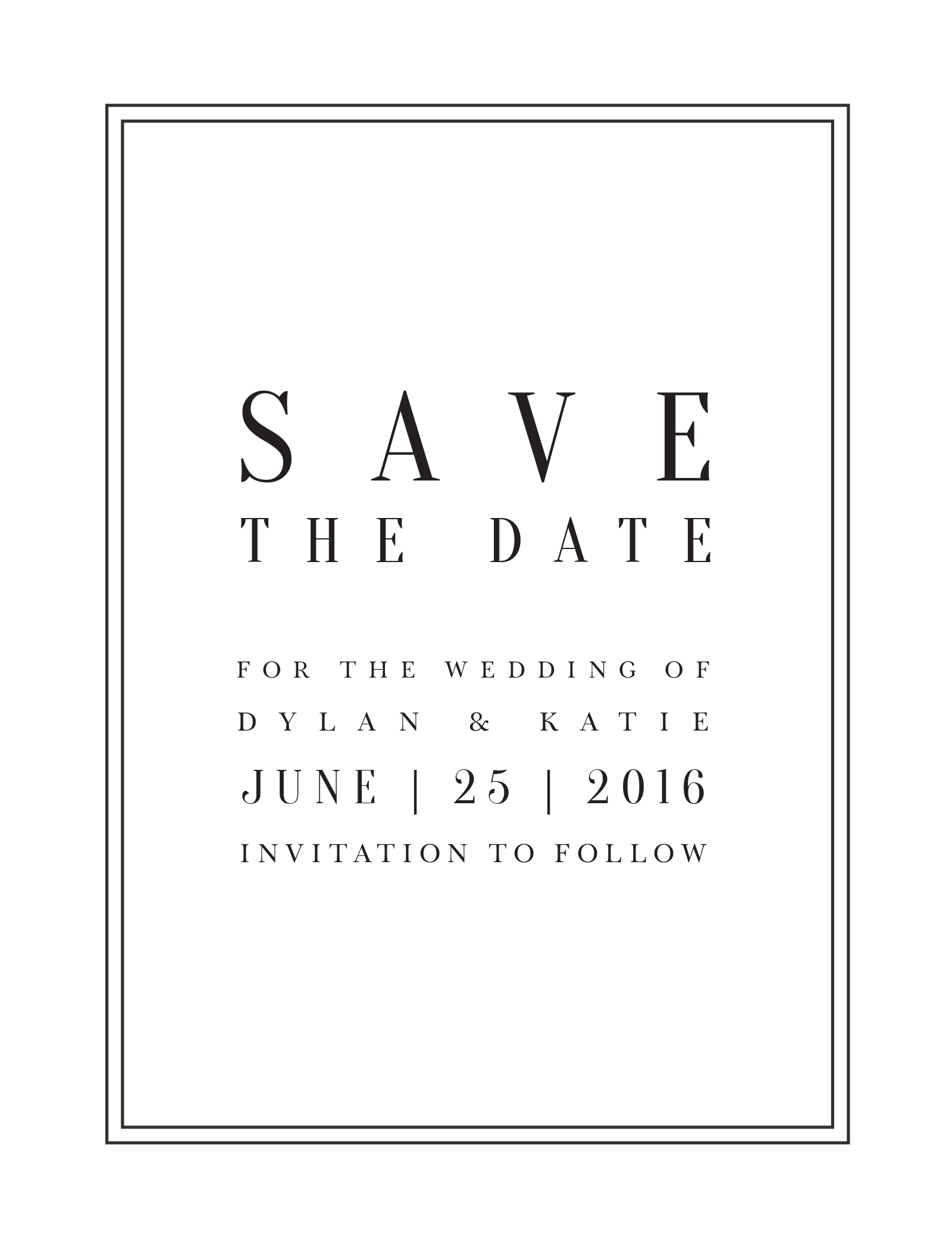 Classic Design - Save The Date
