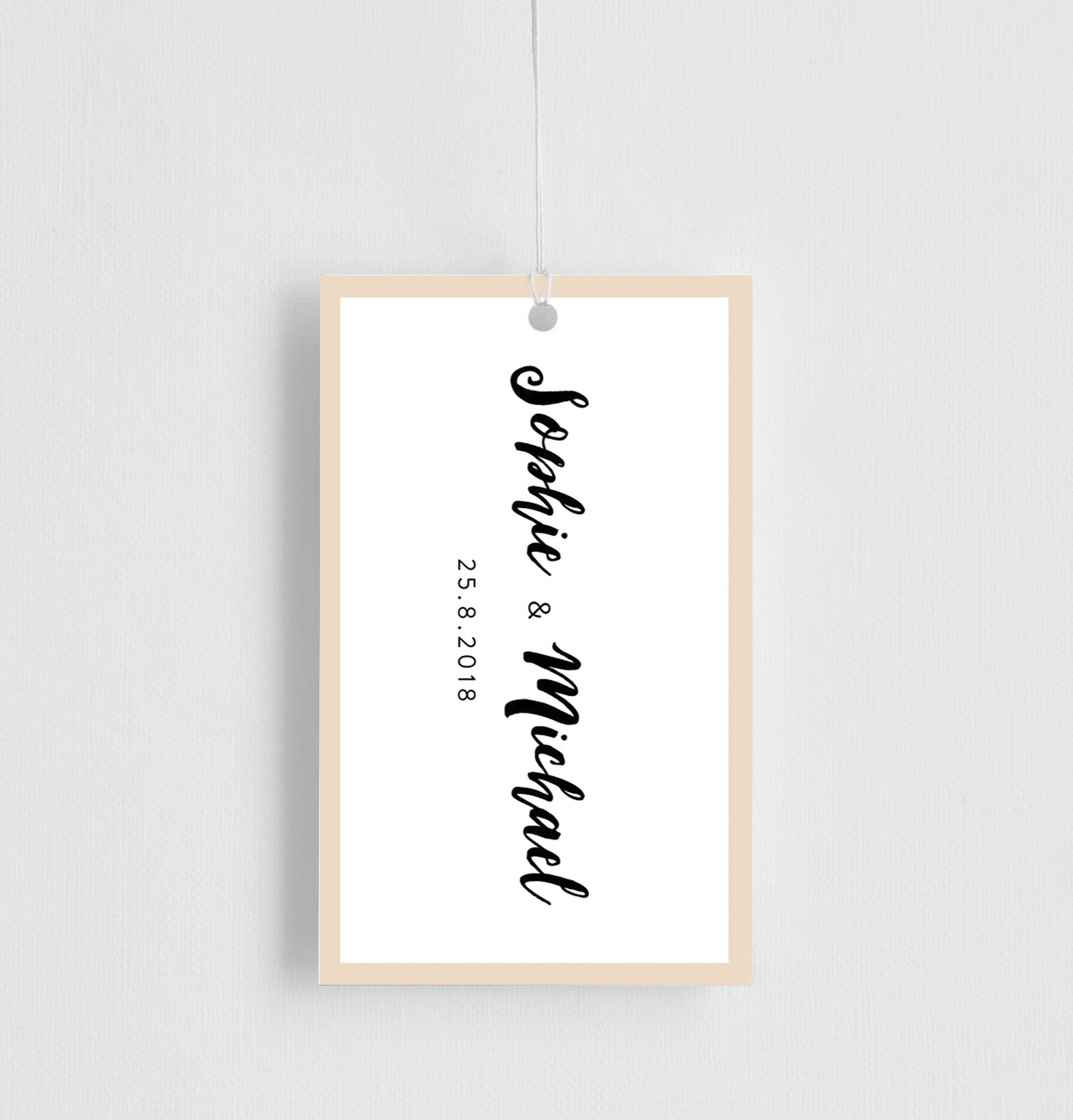 Cream and white - Gift Tags