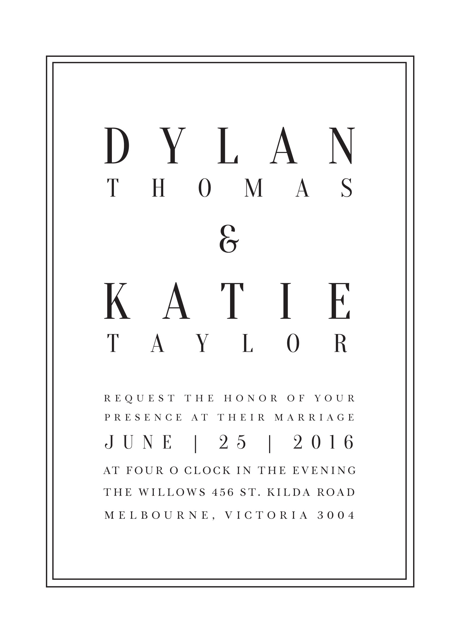 Classic Design - Invitations