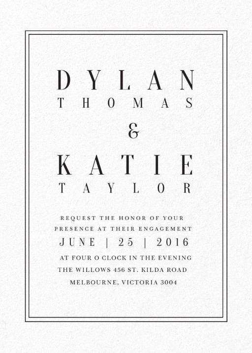 Classic Design - Invitations