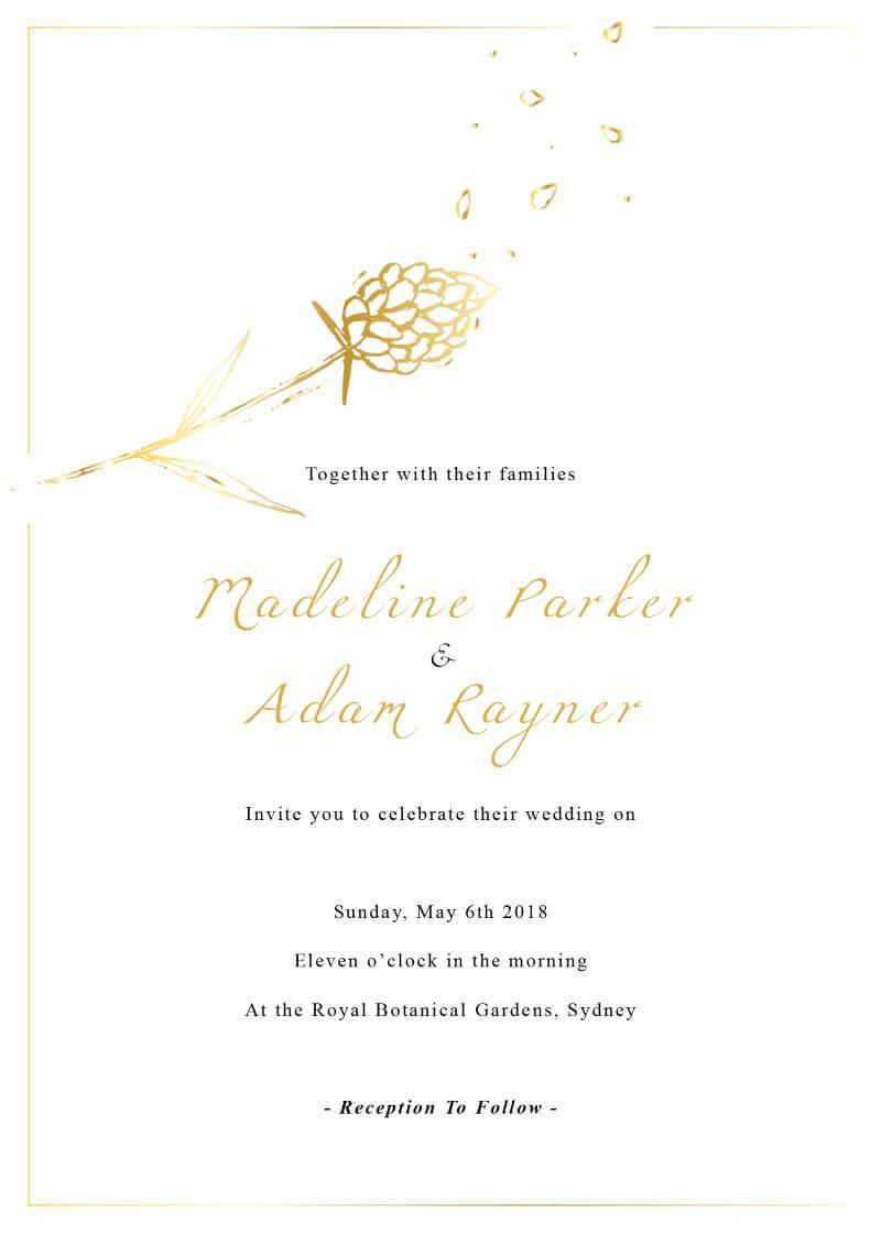 Wedding Petals - Wedding Invitations