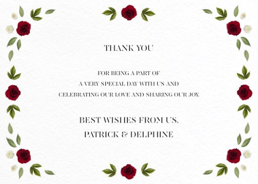 Delphine Rouge - Thank You Cards
