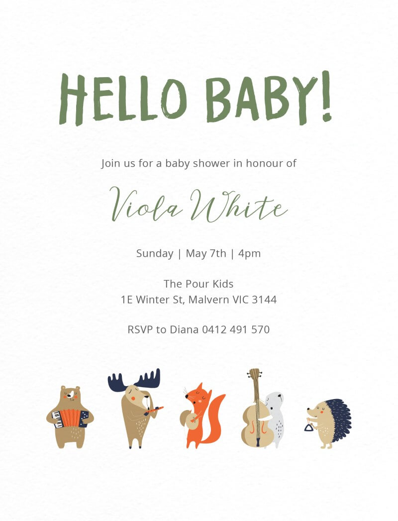 In the Jungle - Baby Shower Invitations