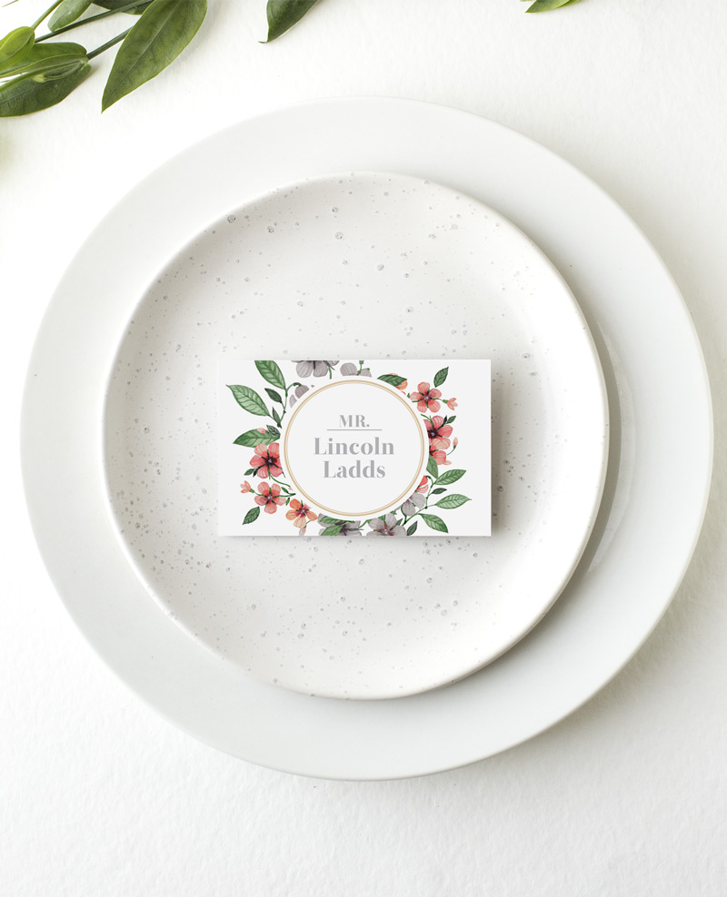 Floral Circle Invitation Set - Place