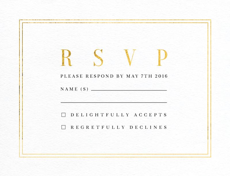 Classic Design - RSVP Cards