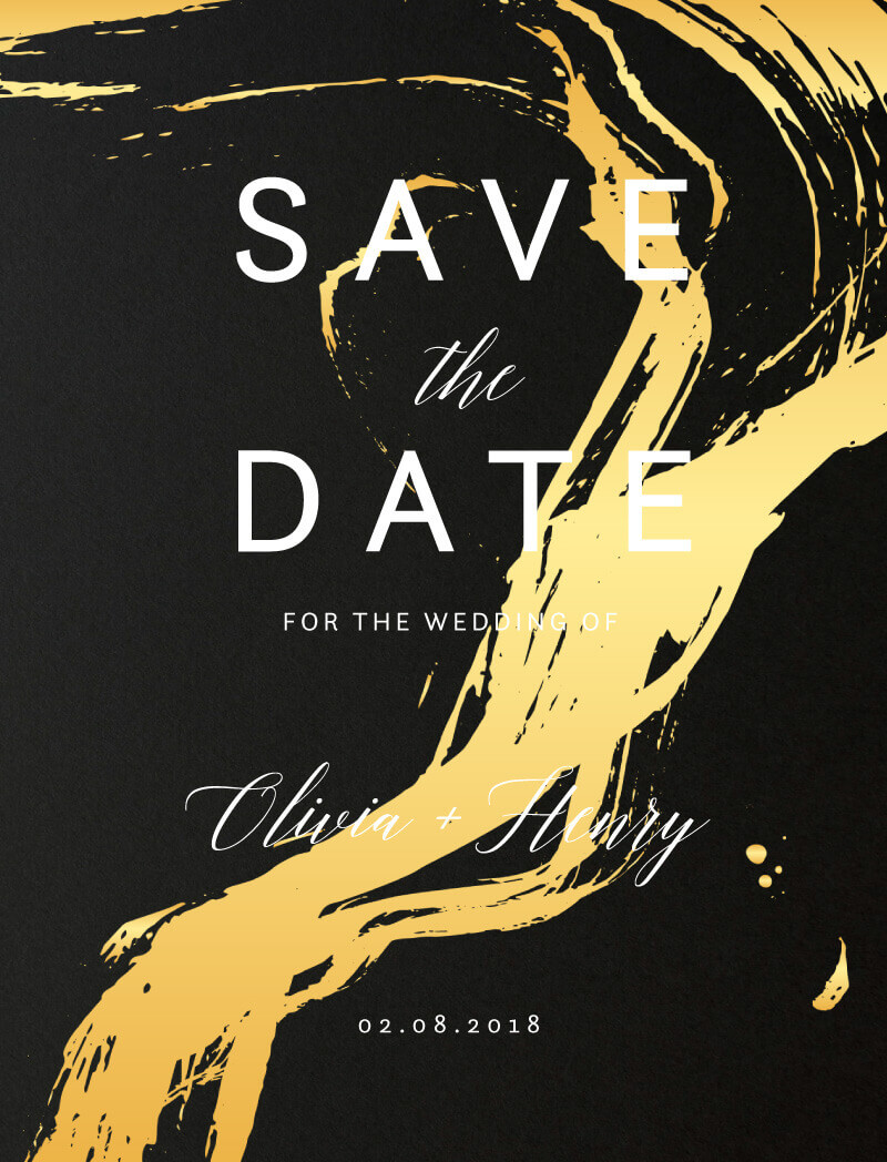 Brush Stroke - Save The Date