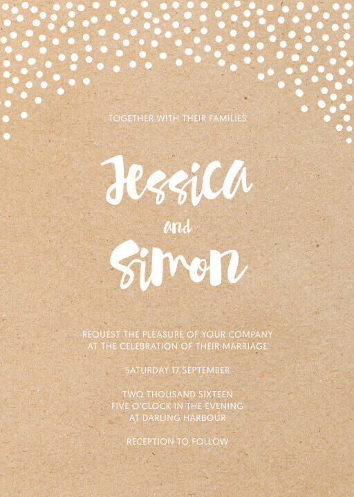 Foil Of Dreams Wedding Invitations - wedding invitations
