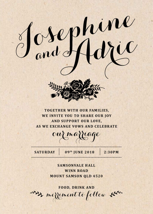 Floral Country Charm Wedding Invitations - wedding invitations