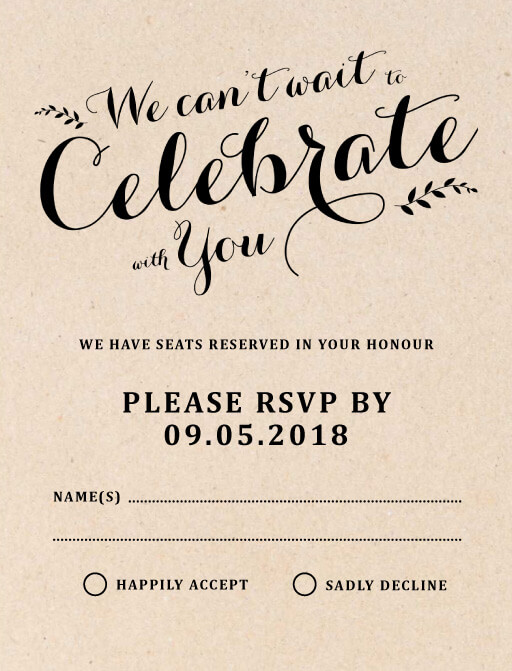 Floral Country Charm - RSVP Cards