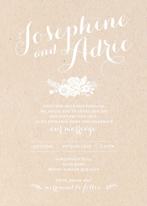 Floral Country Charm Wedding Invitations - wedding invitations