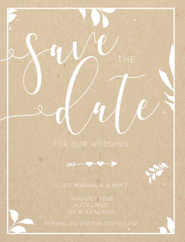 Follow Your Arrow - Save The Date