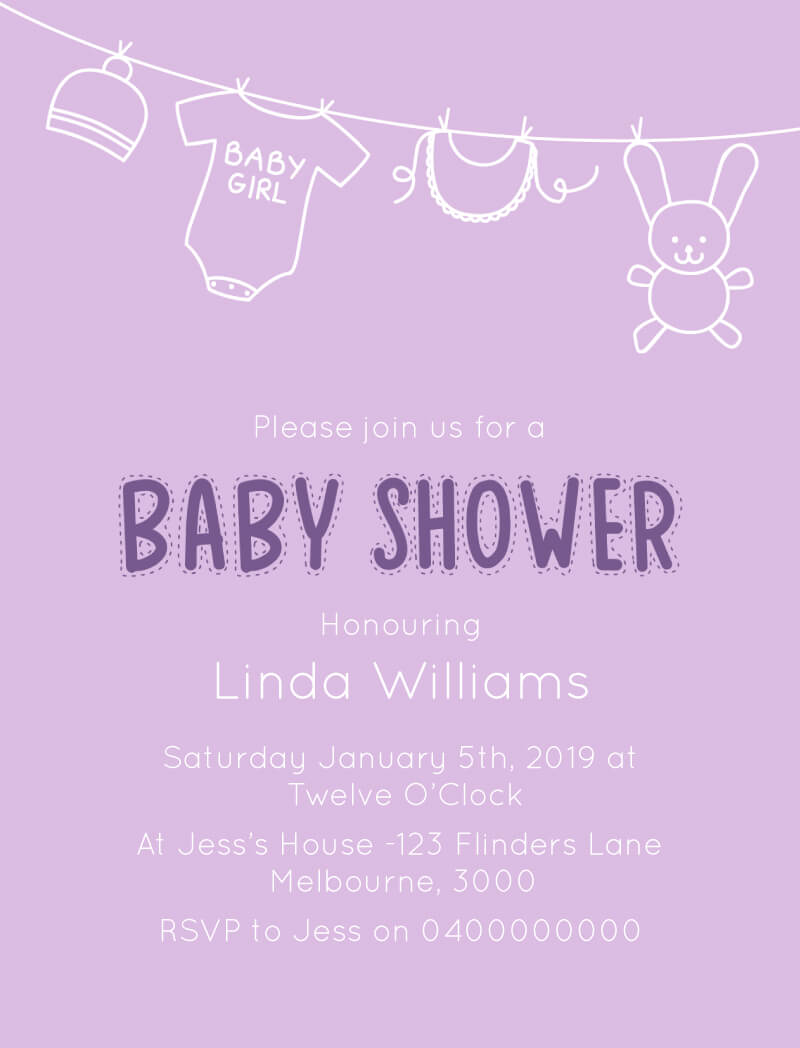Baby Wash - Baby Shower Invitations