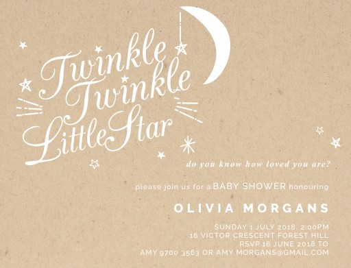 Twinkle Twinkle - baby shower invitations