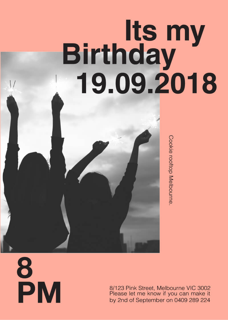 Poster - Birthday Invitations