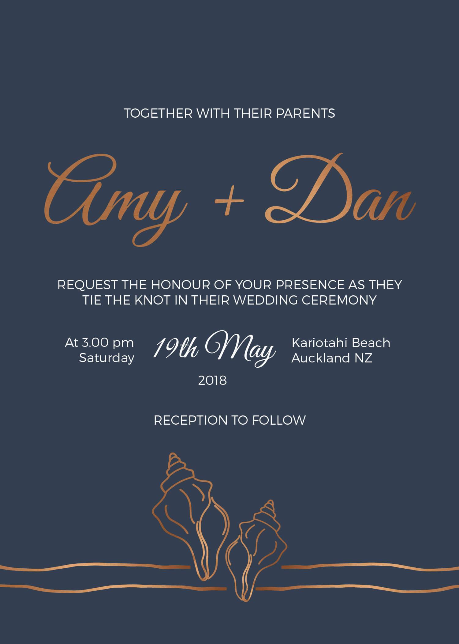 Copper Sands - Wedding Invitations