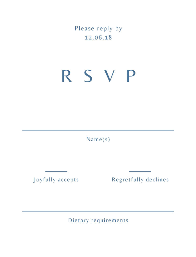 Deep Blue - RSVP