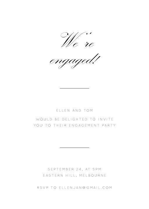 Into the Line - engagement invitations