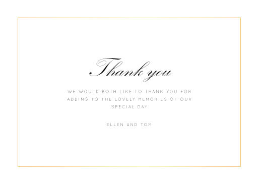 Into the Line - Thank You Cards