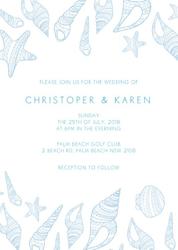 BLUE LIKE THE OCEAN Wedding Invitations - wedding invitations