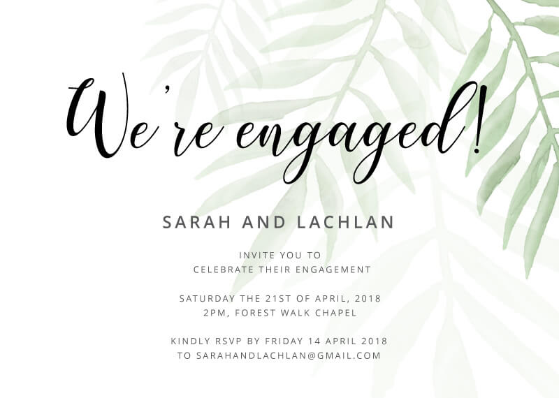 Forest Walk - Engagement Invitations
