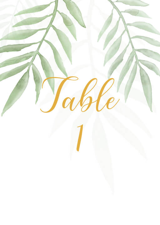 Forest Walk - table numbers