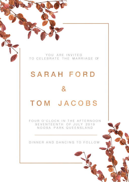 Fall leaves Wedding Invitations - wedding invitations