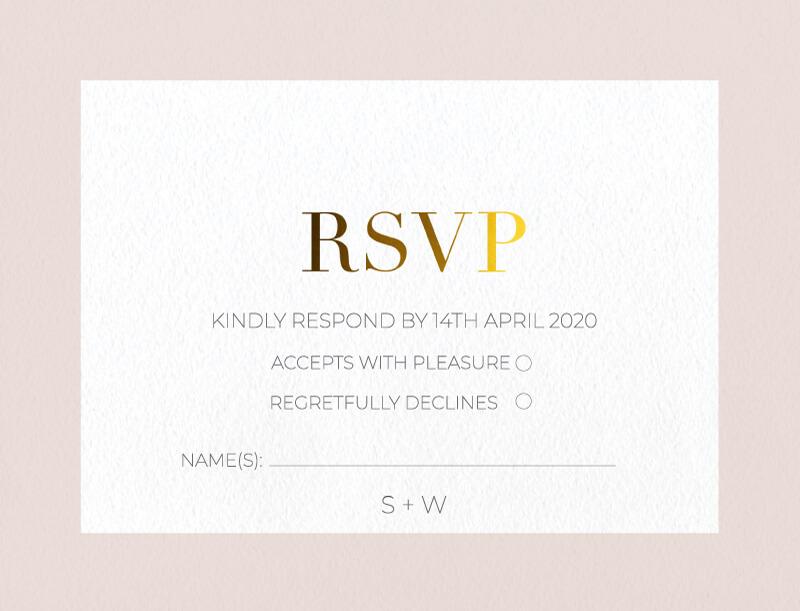 Elegant type - RSVP