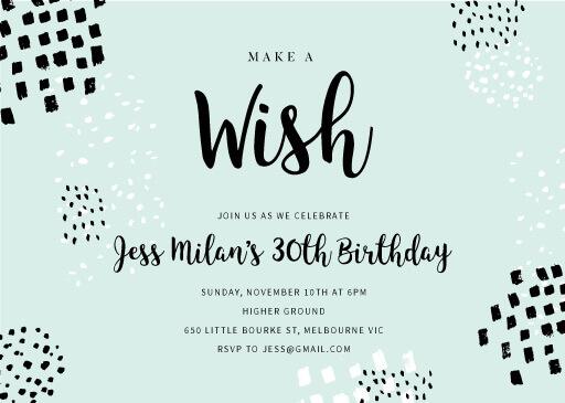 Painted brush - birthday invitations