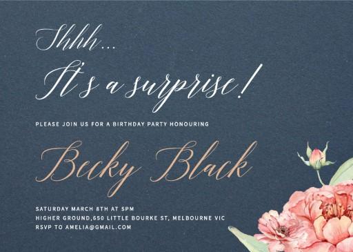 Sweet peach - birthday invitations