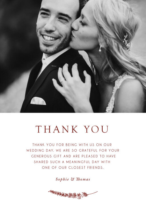 Winter Fire - Thank You Cards