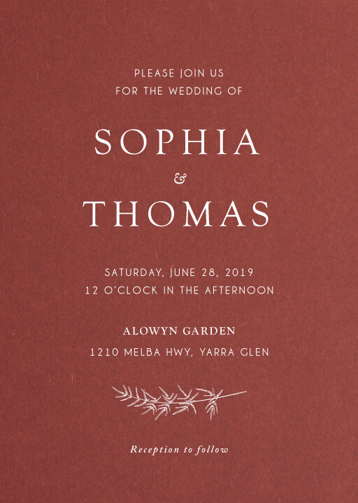 Winter Fire Wedding Invitations - wedding invitations