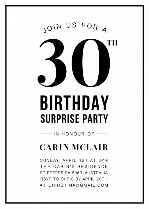 The Great - birthday invitations