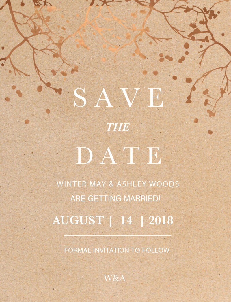 Winter woods - Save The Date