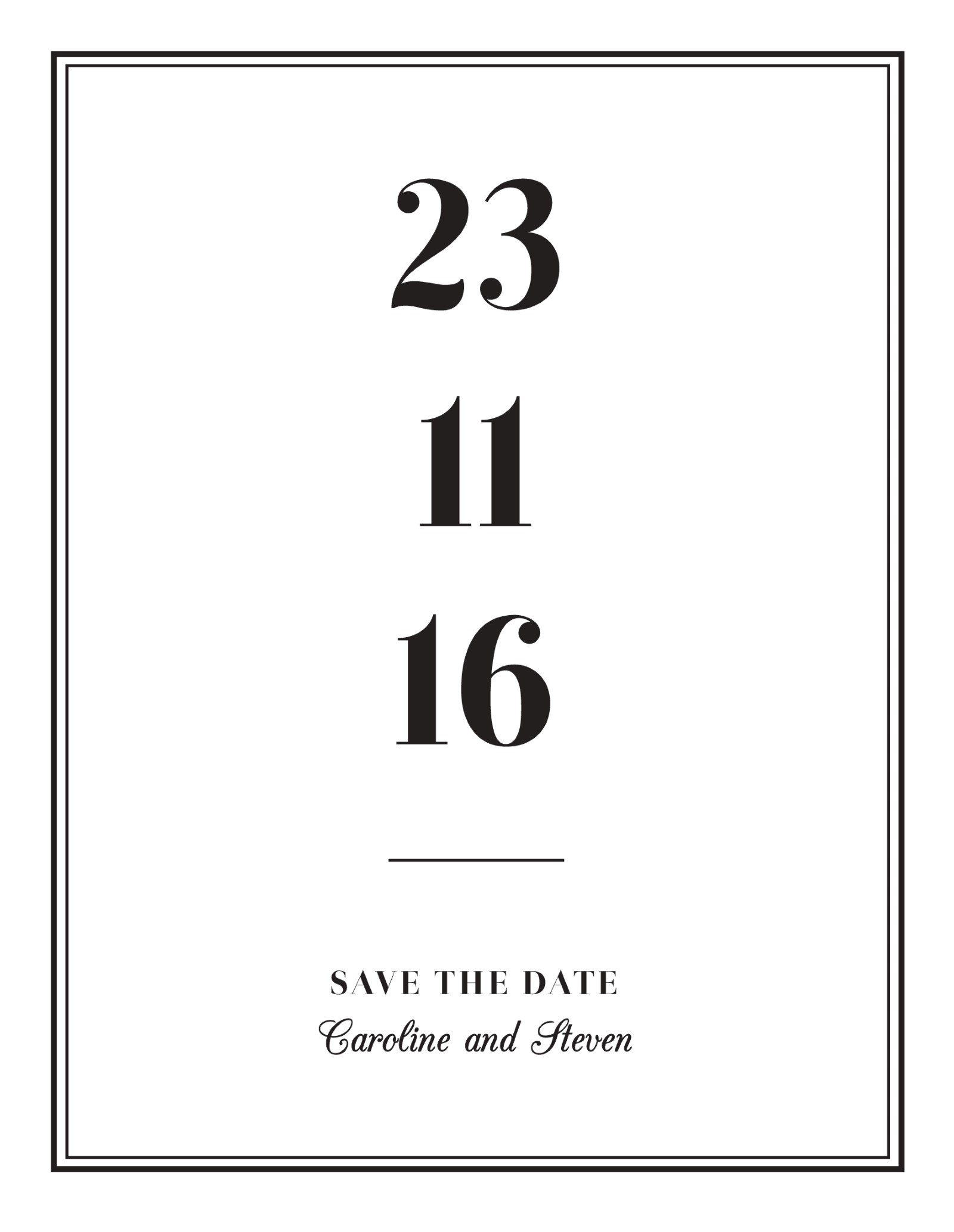 Vintage - Save The Date
