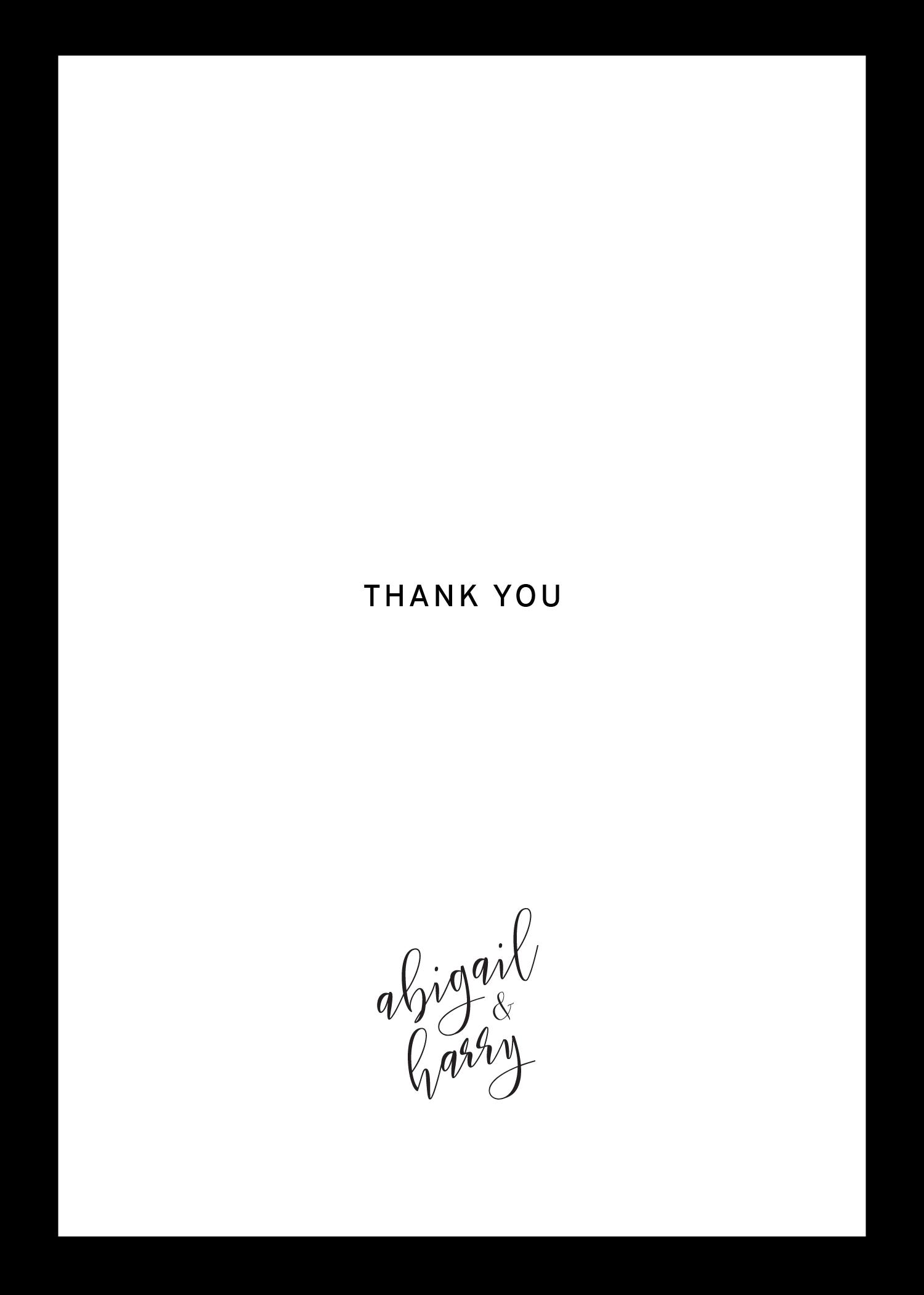 Sleek border - Thank You Cards