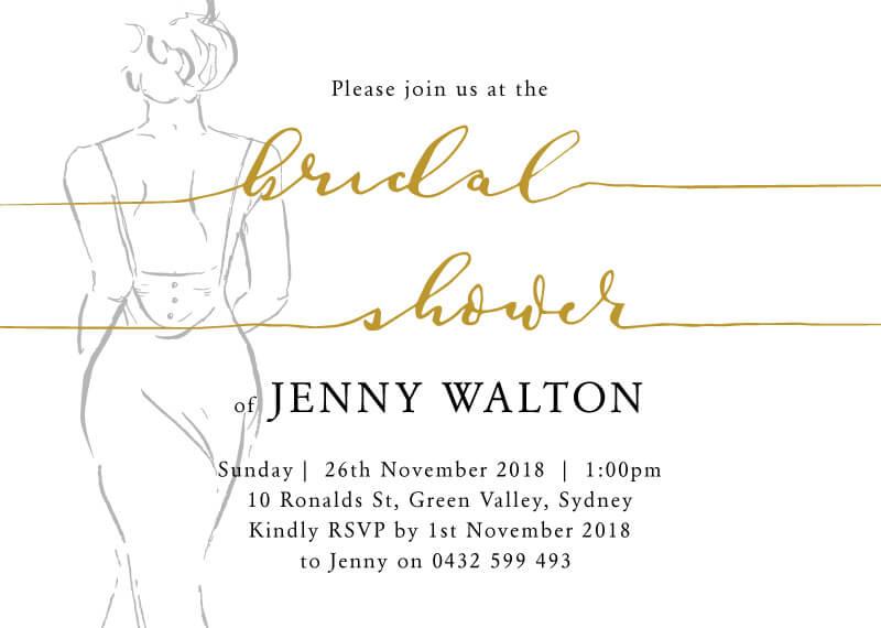 The Dress - Bridal Shower Invitations