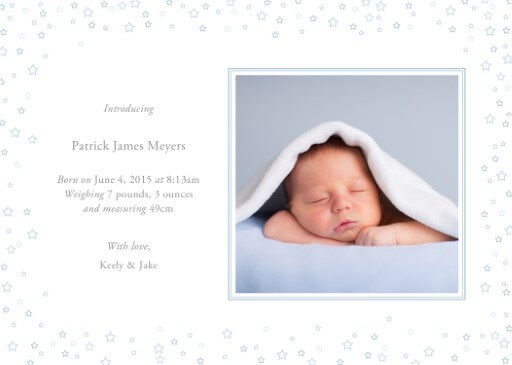 Blue Stars Baby - baby announcements