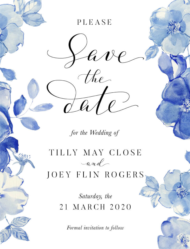 British Floral - Save The Date