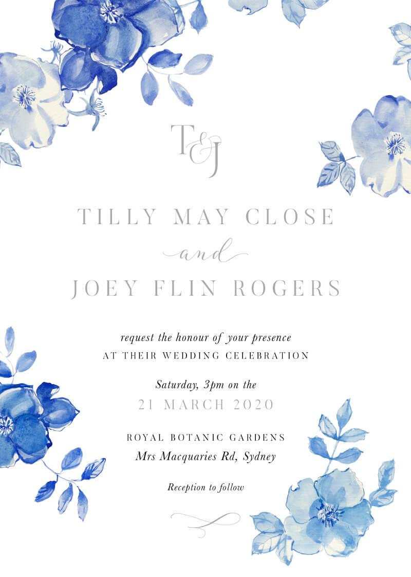 British Floral - Wedding Invitations