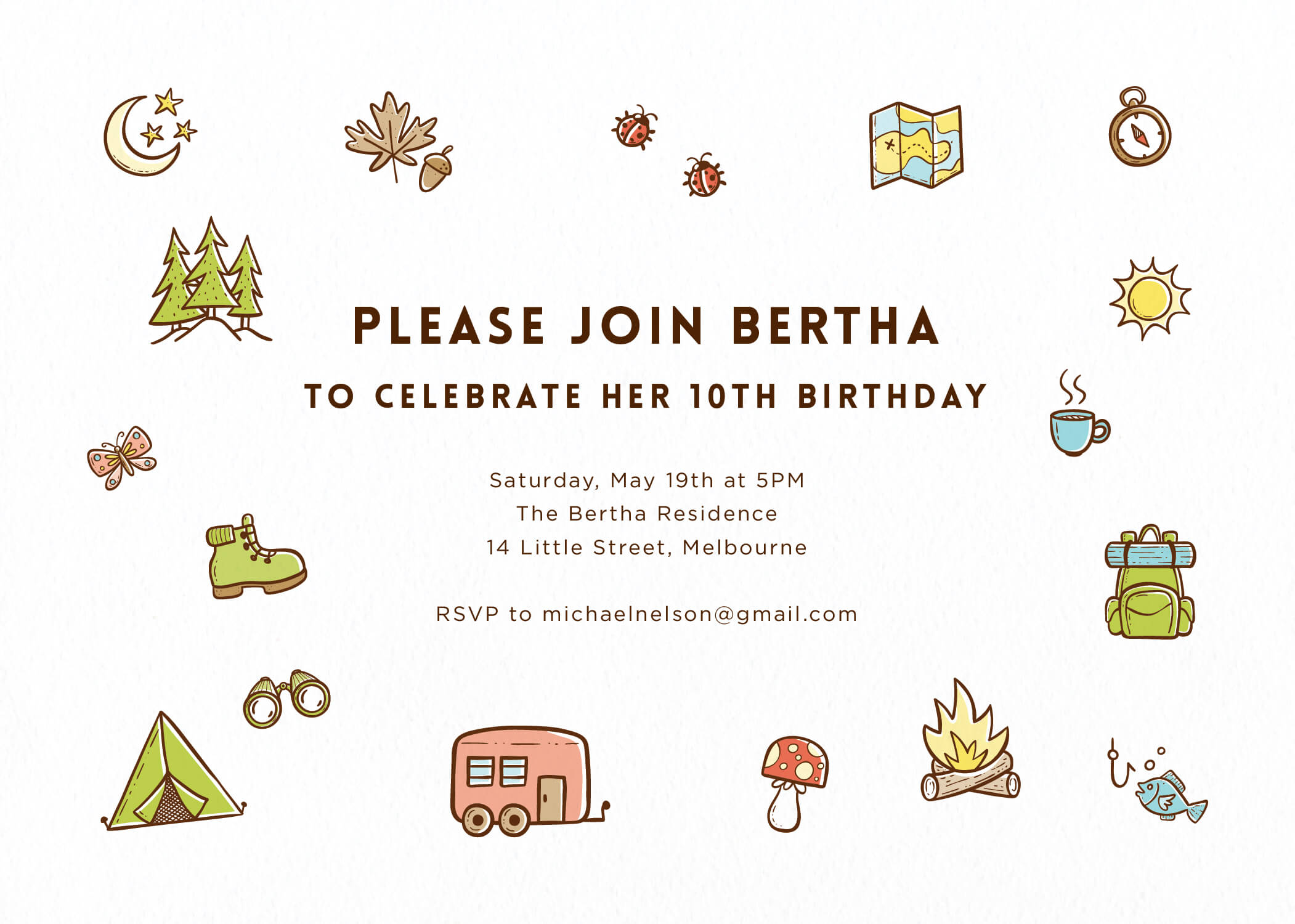 Mountain & hike - Birthday Invitations