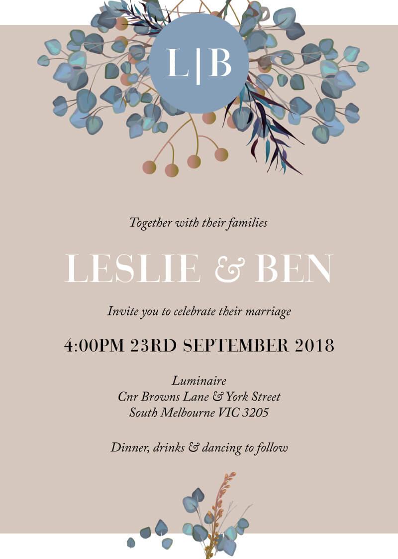 Something Blue - Wedding Invitations