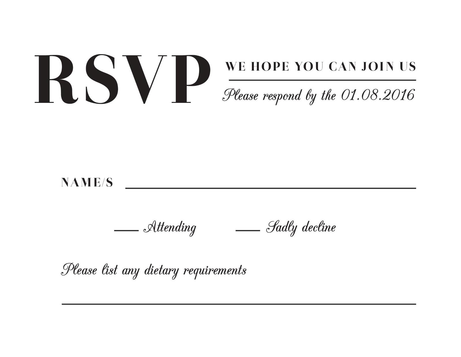 Vintage - RSVP Cards