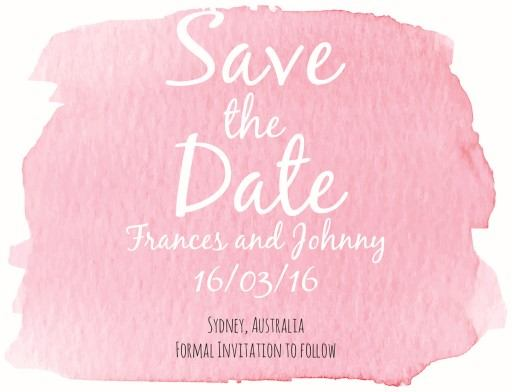 Watercolour - Save The Date