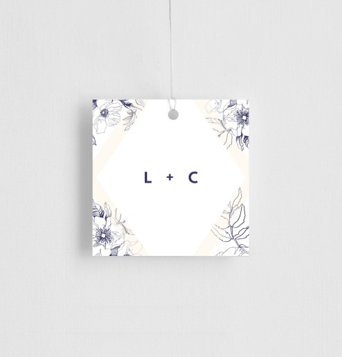 Blue Contour - gift tags