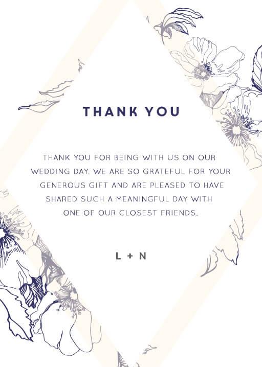 Blue Contour - Thank You Cards