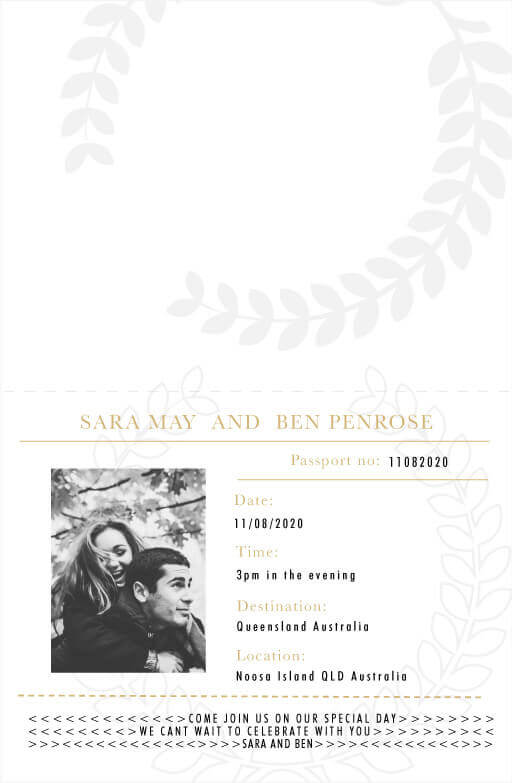 Voyage Wedding Invitations - wedding invitations