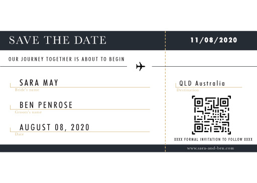Voyage Save The Date - Save The Date